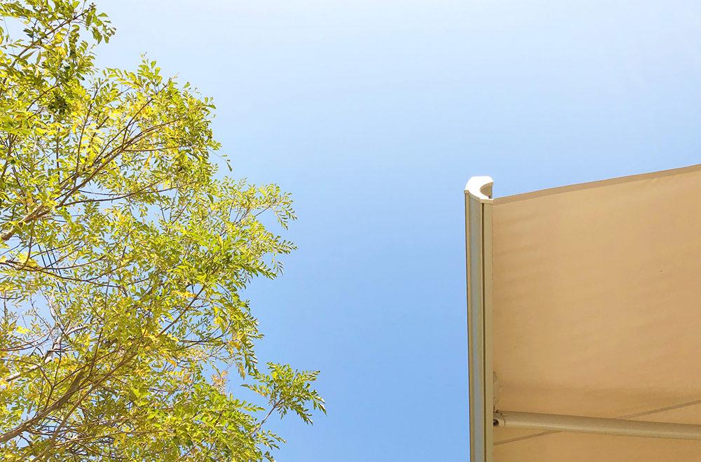 オーニング(サンシェード)設置で<br>美容の大敵「紫外線」をオシャレに対策